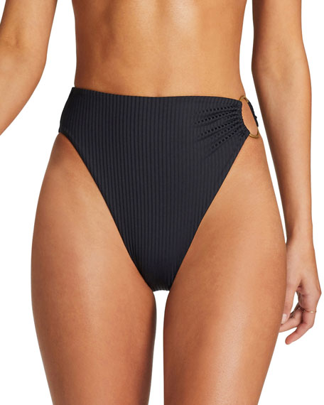 Vitamin A Lolita High-Cut O-Ring Bikini Bottom