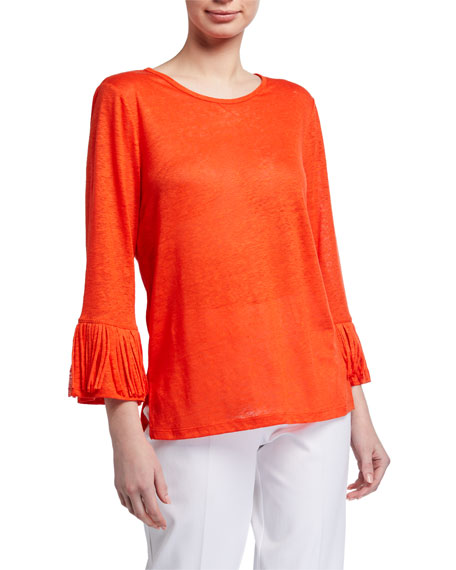 Image 1 of 2: Kobi Halperin Juliana Linen Jersey Top