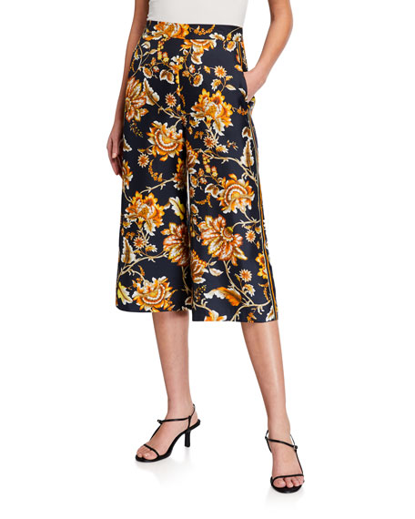 Kobi Halperin Anetta Floral Silk Crop Pants