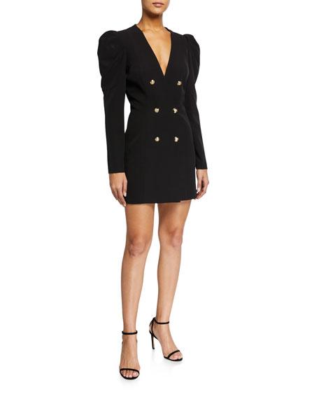 Bardot Britt Puff-Sleeve Blazer Mini Dress