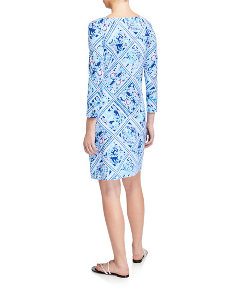 Lilly Pulitzer Sophie Printed 3/4-Sleeve UPF 50 Shift Dress