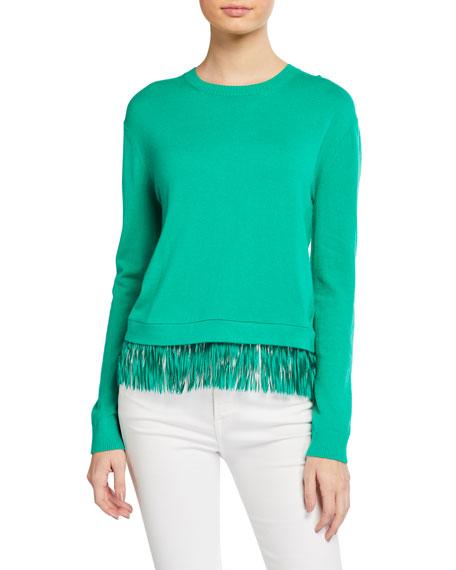 Lilly Pulitzer Marguerite Fringe-Hem Sweater