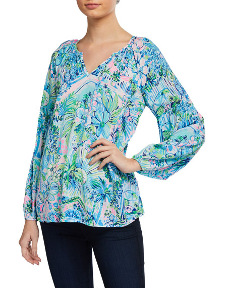 Lilly Pulitzer Winsley Printed Long-Sleeve Top