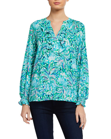 Lilly Pulitzer Angelika Printed Long-Sleeve Top