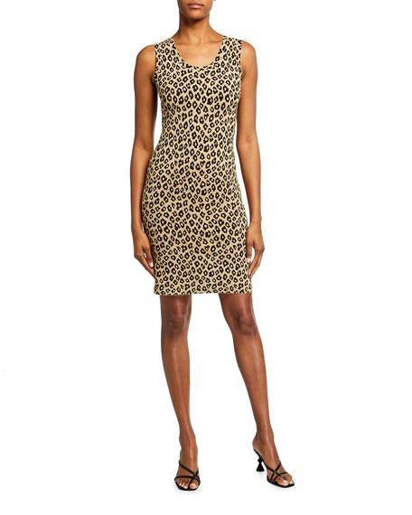 Theory Leopard-Print Sheath Dress