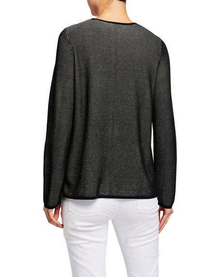 Image 2 of 2: Eileen Fisher Silk/Organic Cotton Long-Sleeve Sweater