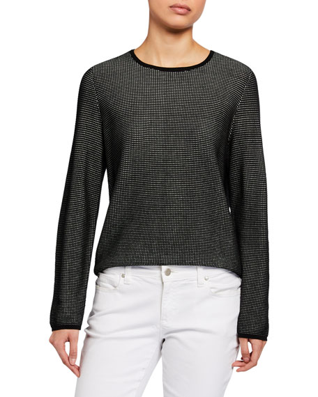 Image 1 of 2: Eileen Fisher Silk/Organic Cotton Long-Sleeve Sweater