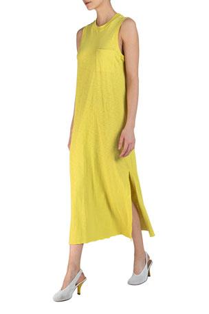 ATM Anthony Thomas Melillo Sleeveless Maxi Dress with Pocket