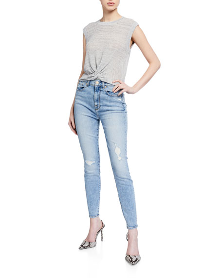 Image 3 of 3: 7 for all mankind High-Waist Ankle Skinny Jeans