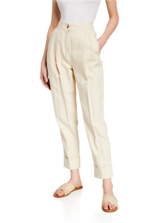ATM Anthony Thomas Melillo Linen Blend Tailored Pants