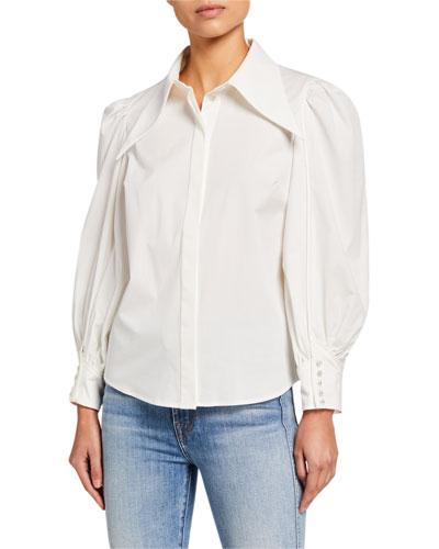 Esteemed Blouson-Sleeve Shirt
