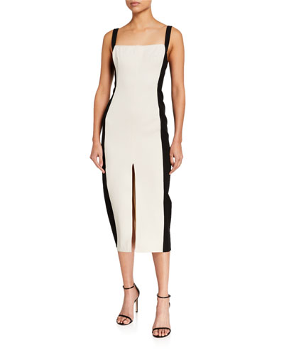 Consumed Split-Front Midi Dress