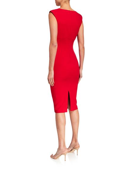 Likely Nori V-Neck Cocktail Dress