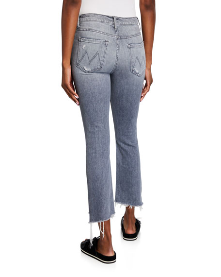 Image 2 of 3: MOTHER The Insider Crop Step Fray Jeans