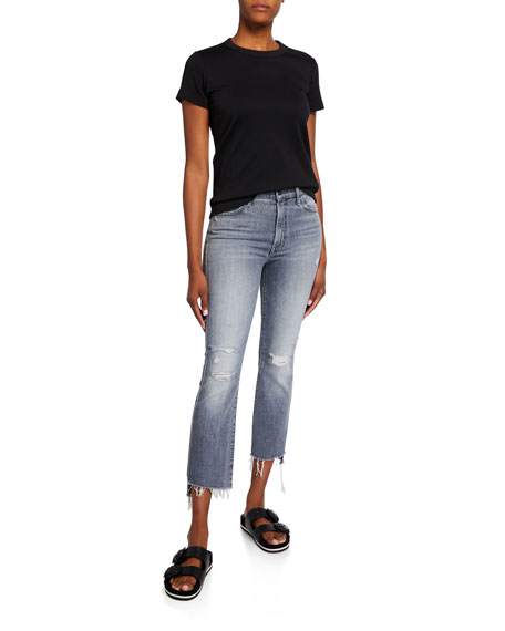 Image 3 of 3: MOTHER The Insider Crop Step Fray Jeans