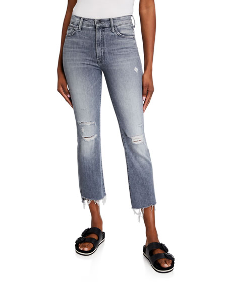 Image 1 of 3: MOTHER The Insider Crop Step Fray Jeans