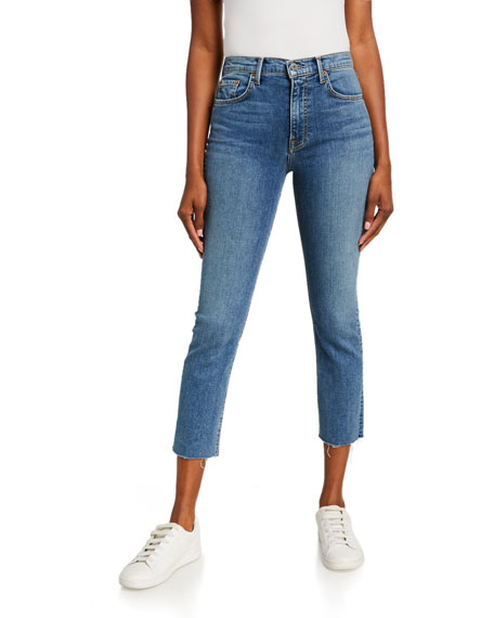 GRLFRND Reed Cropped High-Rise Skinny