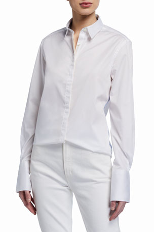 JED Frangipani Trimmed Button-Down Shirt