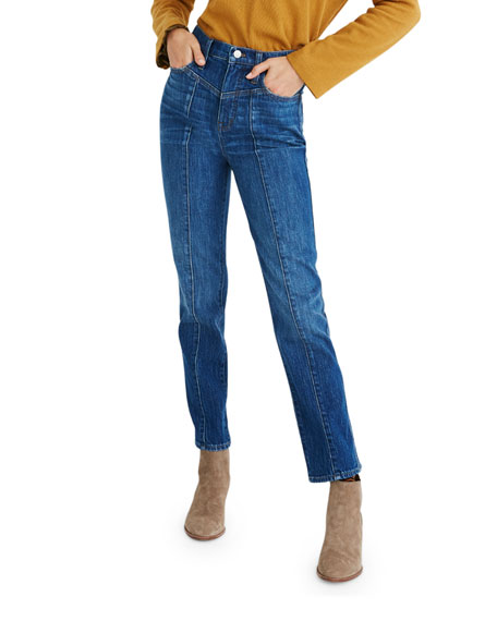 Image 1 of 4: Madewell Classic Straight Jeans w/ Yoke - Inclusive Sizing