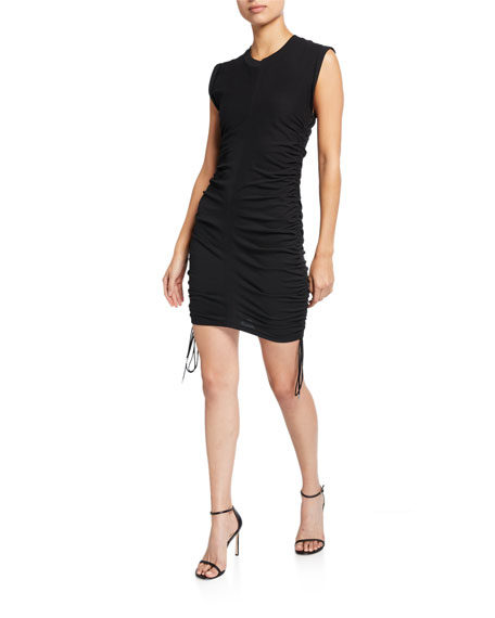 Image 1 of 2: alexanderwang.t Wash & Go Twisted Jersey Dress with Ties