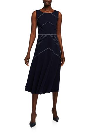 Lafayette 148 New York Natasha Punto Milano Sleeveless Dress