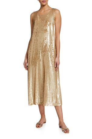 Lafayette 148 New York Ross Spectrum Sequined Midi Dress