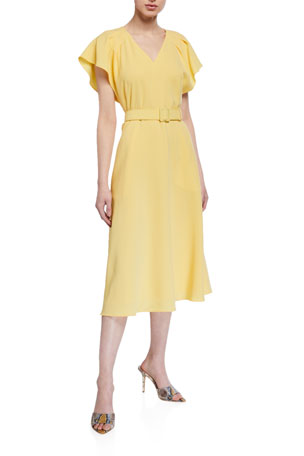 NY Collection Women/'s Plus Size Sleeveless B-Slim Side-Buckle Dress