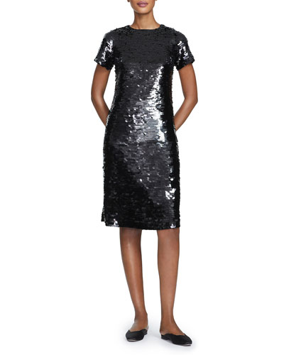 Cassia Ombre Sequins Sheath Dress