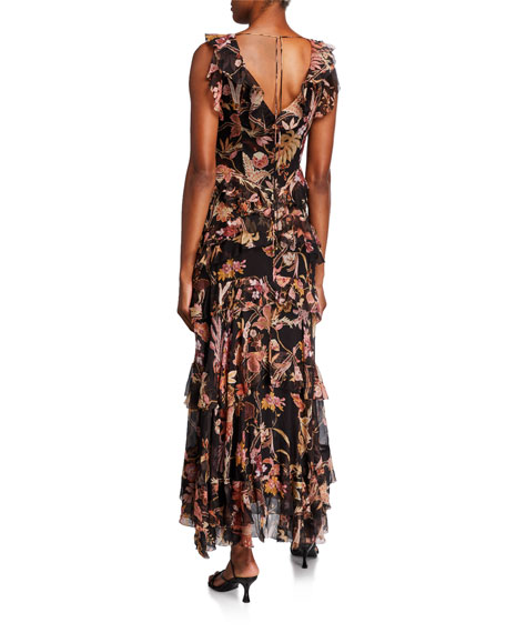 Zimmermann Wavelength Frilled Long Dress