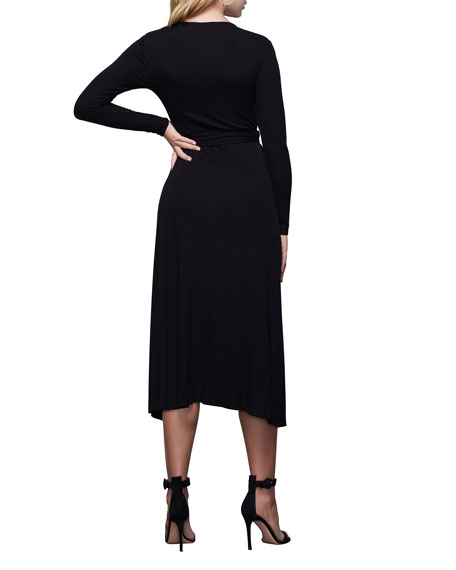 Image 3 of 4: Good American Solid Long-Sleeve Wrap Dress - Inclusive Sizing