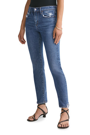 AGOLDE Toni Stratosphere Mid-Rise Slim Straight Jeans