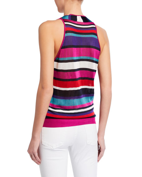 Image 2 of 2: Ramy Brook Dale Striped Sleeveless Top