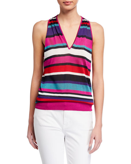 Image 1 of 2: Ramy Brook Dale Striped Sleeveless Top