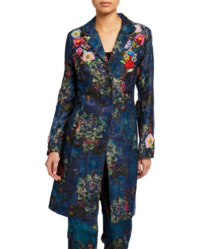 Marcelle Embellished Long Jacket
