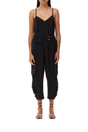Tibi Tropical Wool Belted Jumpsuit $285.00