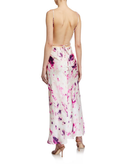 Bardot Tie-Dye Slip Dress w/ Open Back