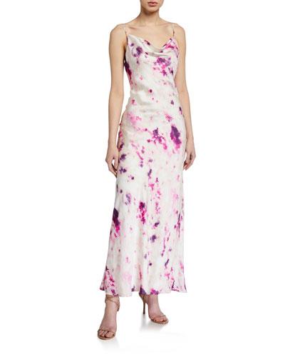 Tie-Dye Slip Dress w/ Open Back