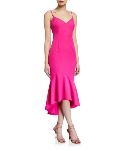 Lisandra High-Low Midi Dress