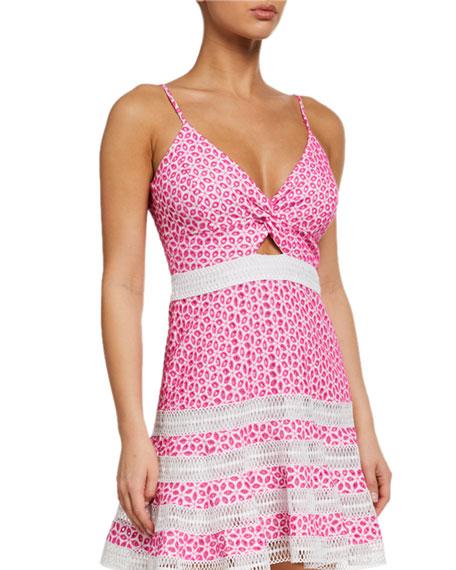 Bardot Camille Twisted Eyelet Sleeveless Dress