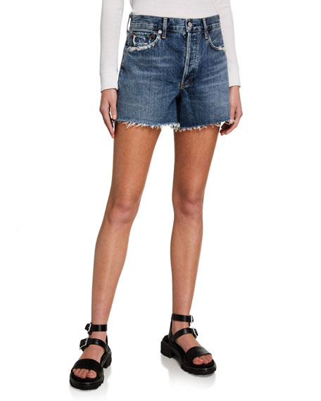 Image 1 of 3: AGOLDE Reese Denim Shorts