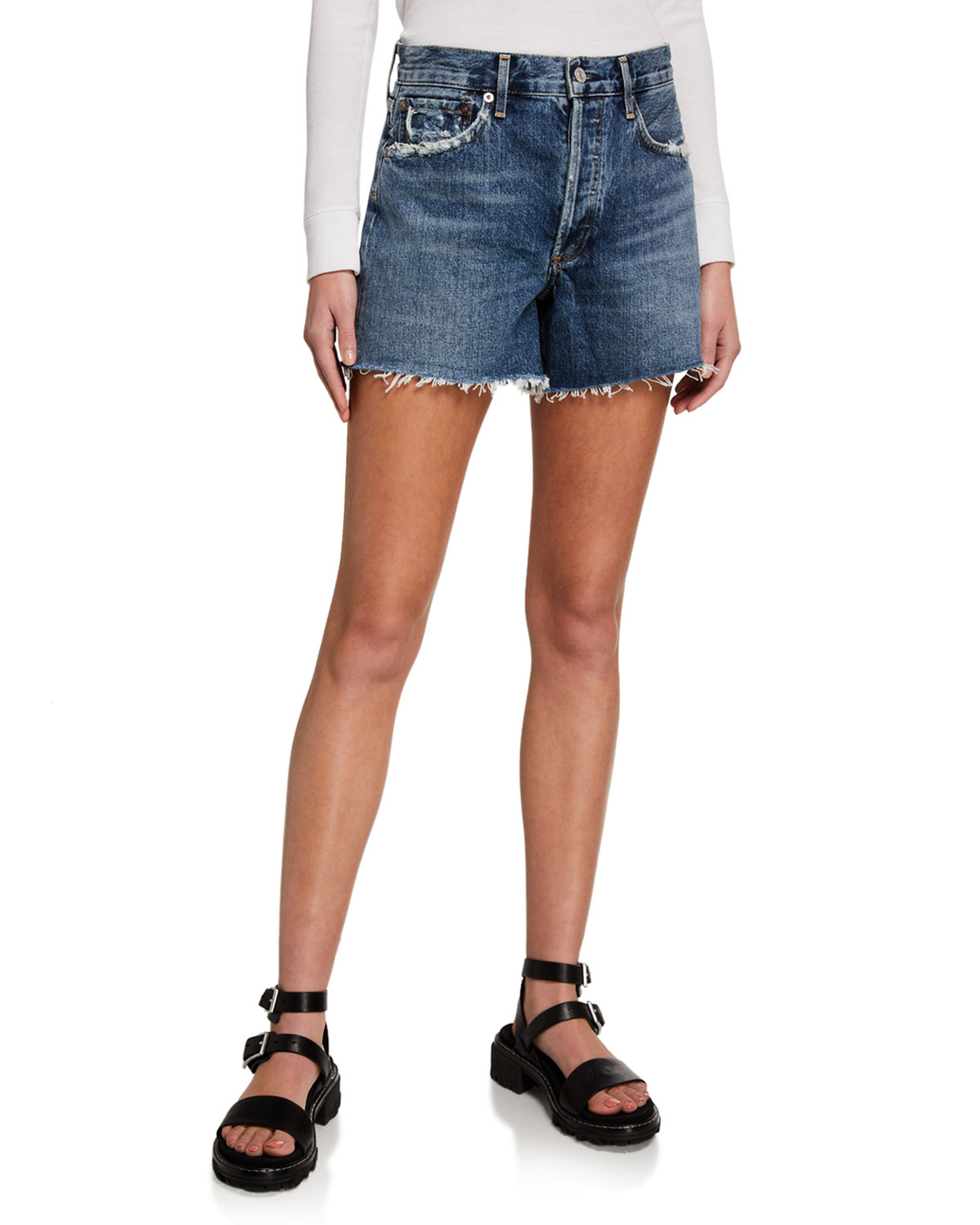 AGOLDE Reese Denim Shorts