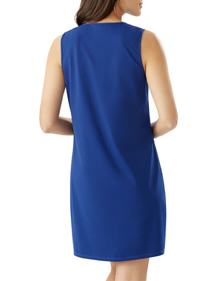 Image 2 of 2: Pearl Solid Sleeveless Spa Dress