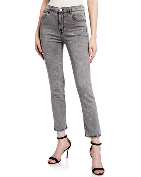 Image 1 of 3: J Brand Ruby High-Rise Cropped Cigarette Jeans
