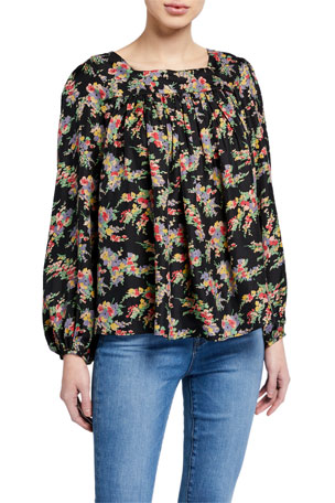 The Great The Prairie Floral-Print Top