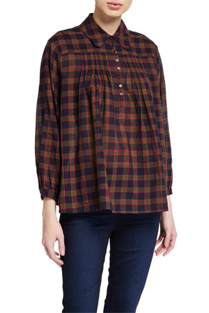 The Great The Lowland Plaid Top