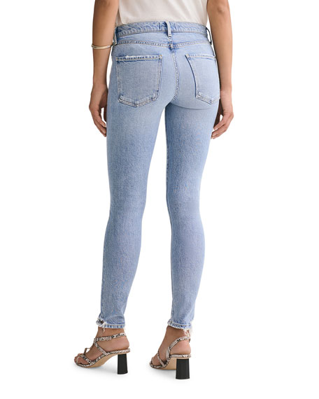 Image 3 of 3: AGOLDE Sophie Mid-Rise Ankle Skinny Jeans with Knee Rip