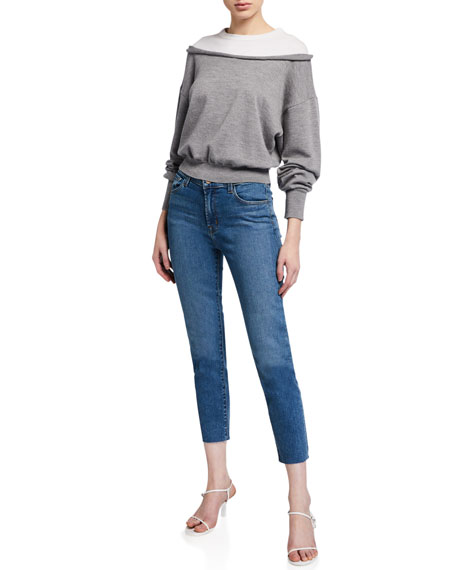 Image 3 of 3: J Brand Ruby High-Rise Crop Cigarette Jeans