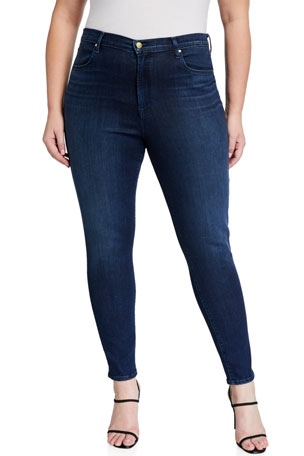 J Brand Maria High-Rise Super-Skinny Jeans (Inclusive Sizing)