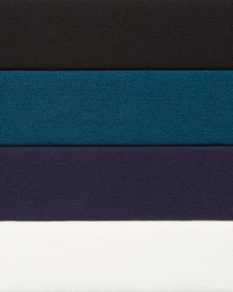 Eileen Fisher Round-Neck Bracelet-Sleeve Crepe Tunic
