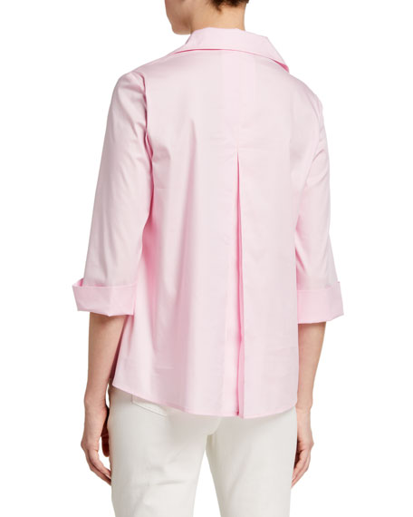 Image 2 of 2: Finley 3/4-Sleeve Stretch Cotton Swing Shirt